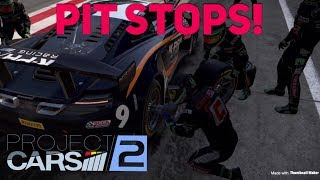 Project CARS 2, How to apply manual Pit Stops in game PS4