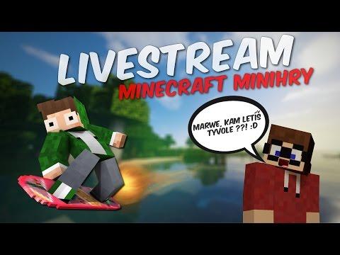 [Záznam] Nadupaný LIVESTREAM - Minecraft minihry s Marawanem [HD60fps]