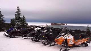 Skidoo trip Gaspésie 2017
