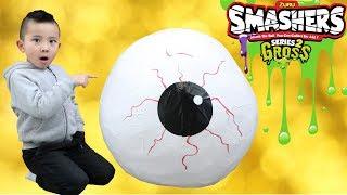 GROSS GIANT EYEBALL SMASHERS Slime Surprise Egg Smashing Fun With CKN Toys