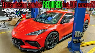 2020 C8 Corvette transmission service REQUIRED but NOT done. 🤦♂️