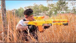 GUGU Nerf War : The Expendables CID Dragon Nerf Guns Fight Criminal Group Mask