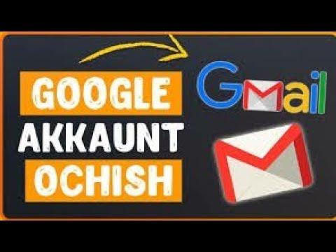 Telfonda Gmail pochta ochish yoki akkaunt qilish