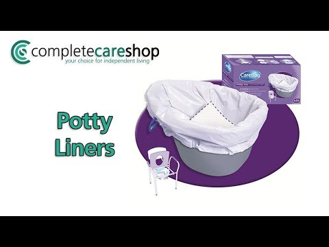 Commode Pan Liners Demo