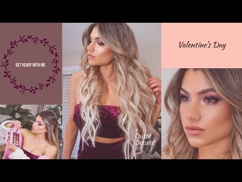 GRWM Date Night 2019 | Outfit Makeup & Hair Transformation (Before
