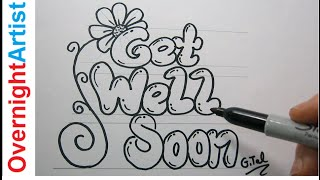 DIY Get Well Soon Card Easy Step By Step Black Marker