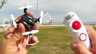 Syma X20S Beginners G Sensor Micro Drone Flight Test Review