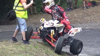 CRAZY Quad Going SIDEWAYS on Hillclimb + CLOSE CALL?!