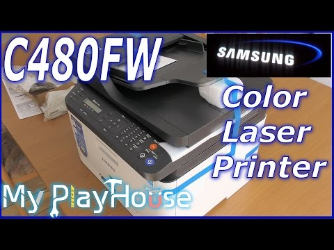Samsung C480FW Color Laser, Unboxing & first print - 347