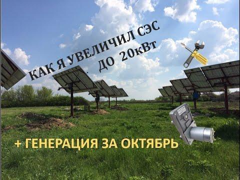 Солнечная электростанция продолжение строительства + генерация за октябрь