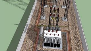 3D Animation of 33/11KV Substation (Outdoor Section)