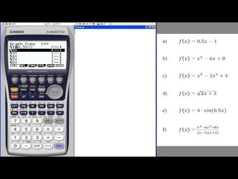 Casio fx-9860: Funktionen grafisch darstellen