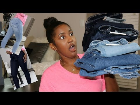 The Best Jeans for All Body Types?! || AE Jeans Try On Haul