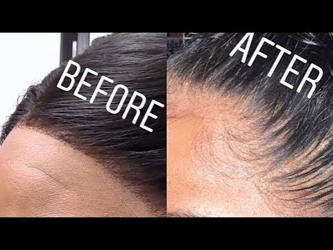 How to PLUCK YOU LACE FRONTAL| ft. Beautiful Princess Hair-Beauty Video Of The Week-byDiuto Ajoku