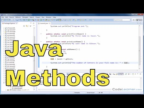 Java Programming Tutorial – 01 – Introduction To Methods