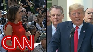 Trump's response to reporter elicits gasps