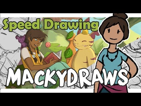 Speed Drawing: Nami and Spirits | Mackydraws