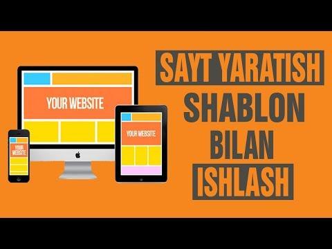 SAYT YARATISH SHABLONLAR BILAN ISHLASH 2 QISM