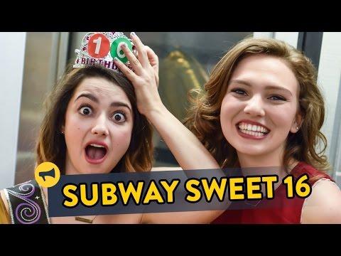 Sweet Sixteen Subway Prank