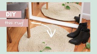 DIY Round Rope Area Rug || Home Decor On A Budget