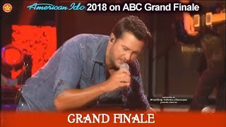 "Luke Bryan Sings ""Sunshine Sunburn Sunset"" American Idol 2018  Grand Finale"