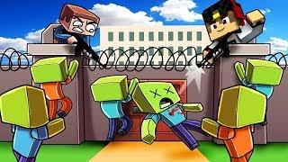 Жители спрятались от Зомби в Секретном Месте Майнкрафт ПЕ Minecraft PE Выживание #мультик игра Дети