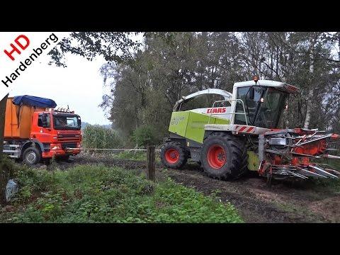 Ginaf vs Claas Jaguar 870   Harvesting mais in the mud   Pleizier & Timmer   Netherlands   2014.