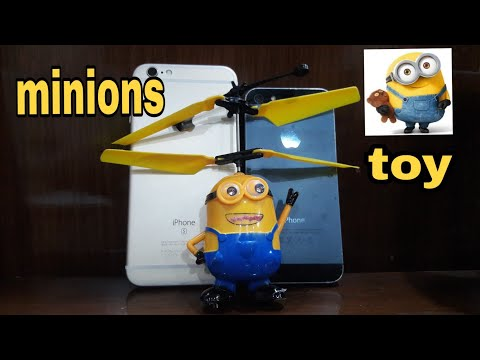Flying minion RC helicopter $5 [Hand induction] | Unboxing, Review and Fligh test ||TERRANO CRAFT ||