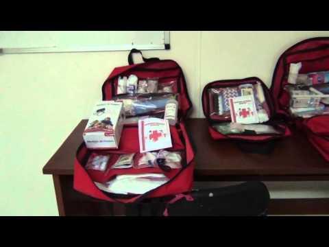Cruz Roja ofrece tres botiquines de primeros auxilios