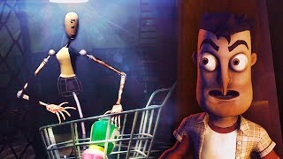 THE MANNEQUINS ARE STEALING EVERYTHING!!! - (Hello Neighbor Super Market / Beta 3)