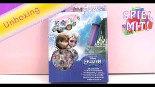Disney Frozen Armband Set mit 18 Charms unboxing - Eigenes Elsa Armbändchen machen