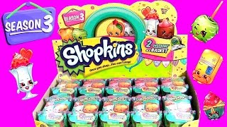 60 SHOPKINS Season 3 Toys Surprise Full Case Of 30 Baskets Learn All Shopkins Characters