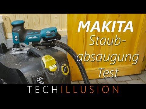 🛠MAKITA AKKU STICHSÄGE - Staubabsaugung für Makita DJV181 - Test & Montage