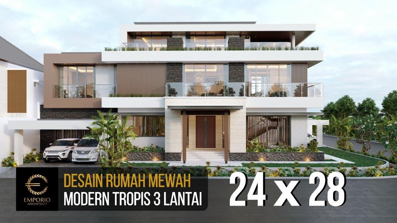 Video 3D Desain Rumah Hook Modern 3 Lantai Ibu Eva di Jakarta Utara
