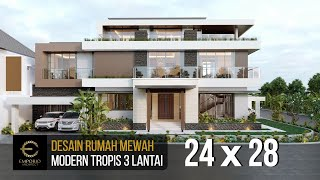 Video Mrs. Eva Modern House 3 Floors Design - Jakarta Utara