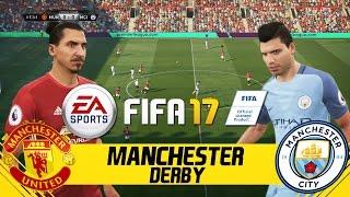 FIFA 17 FULL GAMEPLAY  MANCHESTER UNITED VS MANCHESTER CITY