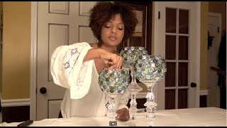 Decorative Glass Candle Holders: Centerpiece - E2 Part1