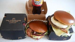 ASMR Burgers: McDonald's Signature Collection Burgers - Video Youtube