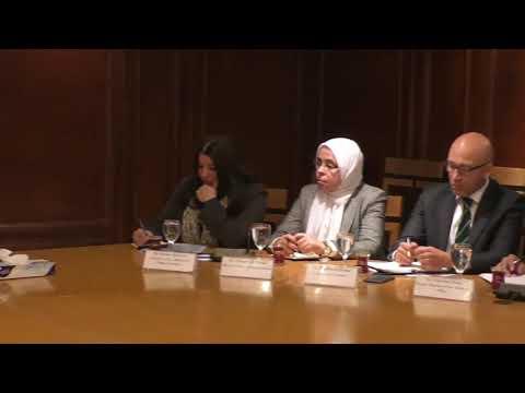 اجتماع الوزير/عمرو نصار مع وفد منظمة الامم المتحدة