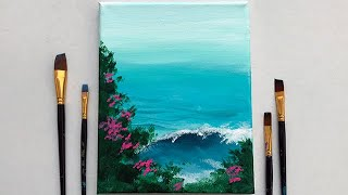 Ocean Waves | Acrylic Painting For Beginners Step By Step