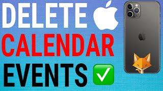 How To Delete Calendar Events On IOS / iPhone / iPad