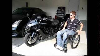 Motorcycle Modified for a Paraplegic