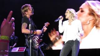 KEITH URBAN CARRIE UNDERWOOD THE FIGHTER LIVE IN WELLINGTON 3/12/2016