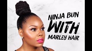 Ninja Bun With Marley Hair