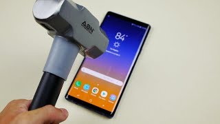 Samsung Galaxy Note 9 Hammer & Knife Test - Will it Explode?