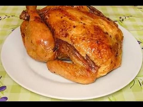 Простой рецепт курицы в духовке с медом.