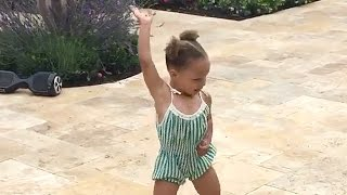 Riley Curry Does Whip & Nae Nae Dance at Birthday Party
