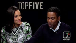TOP FIVE Chris Rock and Rosario on their TOP FIVE