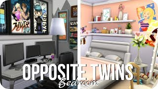 Sims 4 Room Build | Opposite Twins Bedroom