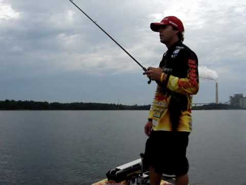 Bass Fishing Lake Fork Tackle Hyper worm with Brannon Long